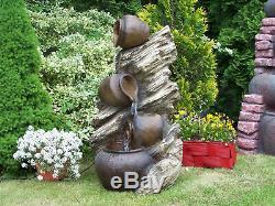 Caractéristiques Fontaine D'eau Vieux Pots Et Bough, Haute 106cm, Jardin, Extérieur Led