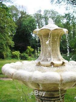 Cascade En Pierre Extérieure De La Fontaine De Jardin En Pierre Classique À 3 Niveaux