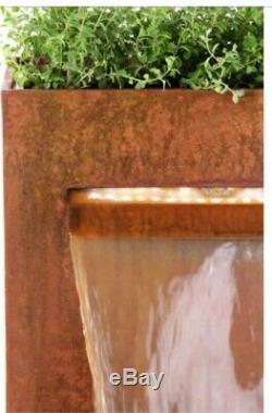 Cascade Herb Planteur Eau Caractéristiques Fontaine Cascade Urban Corten Steel Garden