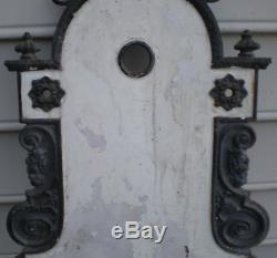 Cast Shabby Salvage Antique Fer Garden Wall Mount Fontaine D'eau