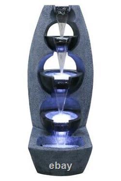 Chester Stacked Bowls Jardin Caractéristique De L'eau Fontaine Extérieure De L'eau