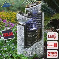 Colonne Légère Menée Actionnée Solaire De Kit De Pompe D'étang De Jardin De Dispositif De Fontaine D'eau Solaire