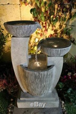 Compact Feature 3 Bowl Contemporaine Jardin Eau, Fontaine D'extérieur Great Value