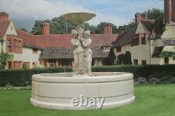 Contempory Tate Pool Surround, Maidens Statue Stone Garden Water Fountain Feature