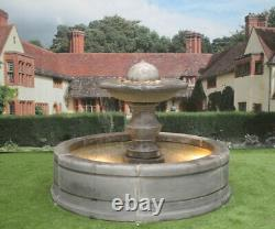 Contempory Tate Pool Surround With Regis Ball Garden Water Fountain Feature