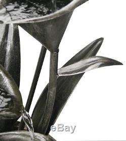 Coupe Florale Eau Caractéristique Fontaine Fontaine Cascade Solaire À Plantes Floral Jardin