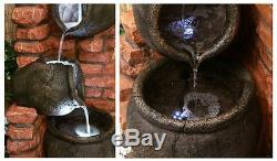 Cruche Pot Caractéristique De L'eau Fontaine Cascade Cascade Classique Poterie Effet Jardin
