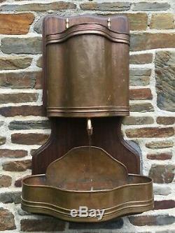 Cuivre Eau Vin Mur Lavabo Fountain Goardere Oak Vintage Laiton Français Plaque