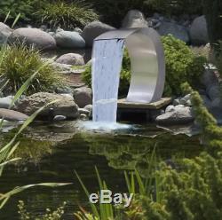 D'eau En Acier Inoxydable Fontaine Piscine Cascade Ensemble Contemporain Caractéristiques Étang De Jardin