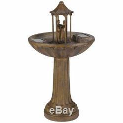Danse Couple Énergie Solaire Fontaine D'eau Caractéristiques Idéal Patio Et Jardin Cadeau