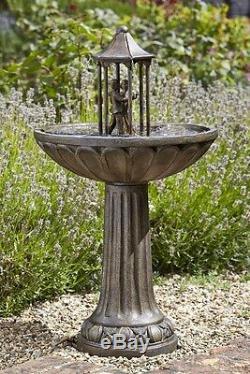 Danse Solaire Intelligente Couple Jardin Eau Caractéristique Fontaine Bain D'oiseau Livraison Rapide