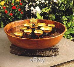 Décor De Jardin Garden Oasis Fontaine À Cloches D'eau Carillon De Jardin