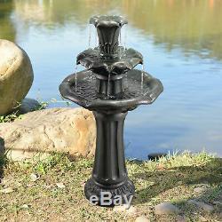 Décor De Jardin Peaktop Extérieur Lily Niveau Pompe À Eau Fontaine D'eau Caractéristiques Vfd8207