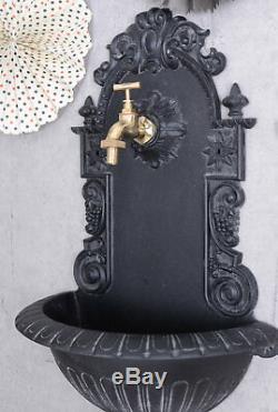 Décoration De Jardin En Fontaine Murale De Style Antique Avec Laiton Robinet Distributeur D'eau