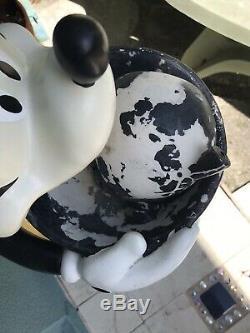 Disney 25 3/4 Mickey Mouse Jardin Fontaine D'eau Pelouse Intérieure Décoration Extérieure