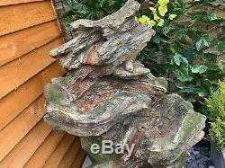 Driftwood Chutes D'eau Woodland Garden Feature, Fontaine D'extérieur Great Value