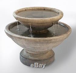 Duo Bowl Jardin & Paysage Fontaine D'eau En Fonction Sépia