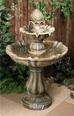 Effet De Pierre Antique Fontaine Jardin 2 Niveaux Cascade Extérieur