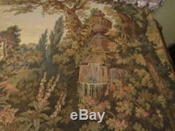 Élégante Tapisserie Murale Fine Italian Hanging Moulin À Eau Et Fontaine De Jardin 60x75