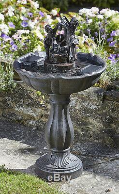 Embouchure Solaire Intelligente Eau De Jardin Avec Seau De Fontaine Fontaine Pour Oiseaux