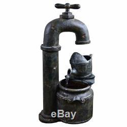 En Dehors Du Cuivre En Cascade Fontaine Printemps Jardin Optique Antique Pompe À Plan D'eau