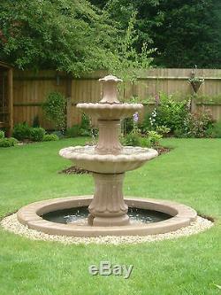 Énorme Gamme De, Pompe Solaire De Statue Extérieure De Jardin De Fontaine De Trait De L'eau