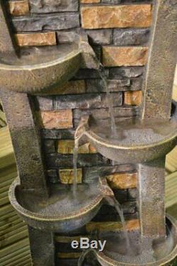 Étang Extérieur D'intérieur De Jardin De Pompe De Cuvette En Cascade De Fontaine De Trait De L'eau Avec Mené