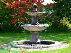 Extérieur Pierre Fontaine D'eau Caractéristiques 2 Hiérarchisé Ornement De Jardin Statue