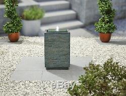 Facile Fontaine Mosaic Cube Jardin Extérieur Caractéristiques Eau Comprend La Lumière Led (s)