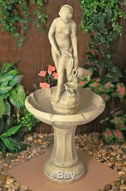 Femelle Statue De Dame Statue Ornement Classique Fontaine D'eau Jardin