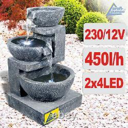 Fonction D'eau De Fontaine De Jardin 230v Ensemble Extérieur De Granit De Fontaine Extérieure De Fontaine