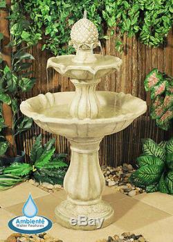 Fontaine À Eau À 3 Niveaux De Caractéristique Cascade Classique Ivoire Blanc Effet De Pierre Jardin