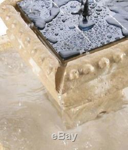 Fontaine À Eau Carrée À 2 Niveaux, Caractéristique Du Jardin À Effet De Pierre Classique En Cascade