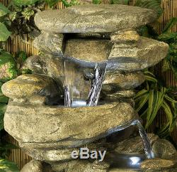 Fontaine À Effet De Cascade Avec Cascade D'eau À 3 Niveaux