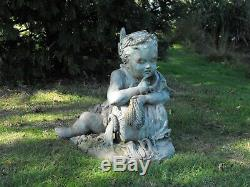 Fontaine Antique Jardin Bronze Fontaine Italienne Jardin Bronze C1920