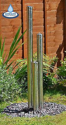 Fontaine Contemporaine En Acier Inoxydable De Cascade De Fontaine De Cascade D'argent De 3 Tubes