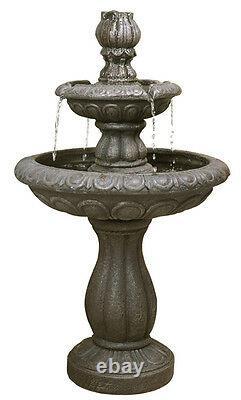Fontaine D'eau De 2 Niveaux Feature Cascade Classical Victorian Metallic Effect Garden