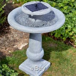 Fontaine D'eau De Chatsworth En Plein Air À Énergie Solaire Avec Décor De Jardin