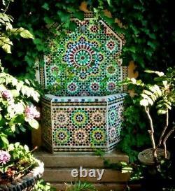 Fontaine D'eau De Jardin Petite Mosaïque Marocaine Zellij Intérieur Extérieur Dispositif