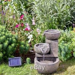 Fontaine D'eau En Cascade De Gênes Relaxante Patio De Jardin En Cascade