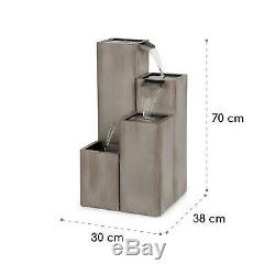 Fontaine D'eau En Plein Air Fonctionnalité Aquatique Cascade Fall Pump 12w
