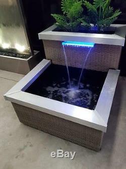 Fontaine D'eau Feature Avec Lumières Led Pompe De Jardin Pour Extérieur Intérieur