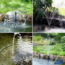 Fontaine D'eau Solaire Caractéristiques Étang De Jardin Pompe Kit Kit Submersible Énergie Solaire
