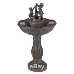 Fontaine D'eau Solaire Jardin Caractéristique De L'eau Extérieur Patio Ornement Statue Décor