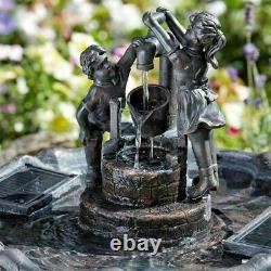 Fontaine De Caractéristiques D'eau De Jardin D'eau Smart Solar Tipping Pail