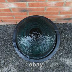 Fontaine De Dispositif D'eau Solaire Alimenté Patio De Boule Debout Noir De Jardin Extérieur