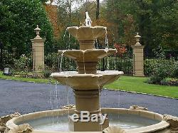 Fontaine De Jardin À Trois Niveaux En Pierre Reconstituée