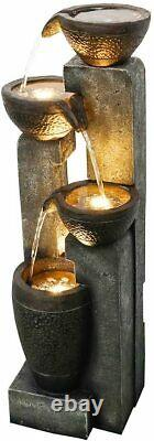 Fontaine Extérieure D'eau De Jardin De 40 Pots De 4 Niveaux Pour La Cour, Le Patio De Plancher, L'arrière-cour