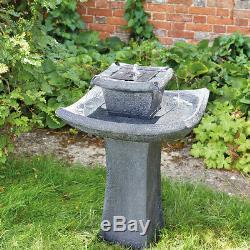 Fontaine Solaire D'eau De Pagode En Plein Air Bird Bath Feature Garden Decor