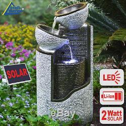 Fontaines Extérieures Solaires De Fontaine Solaire Solaire De Fontaine De Jardin De Caractéristique De L'eau Avec Mené Solaire